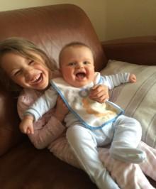 Noah and sister at home