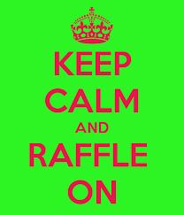 keep calm and raffle on