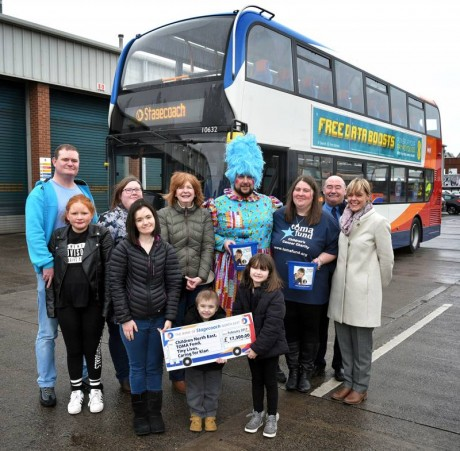 Stagecoach Santa donation Newcastle 2