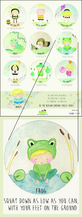 Poster with Frog