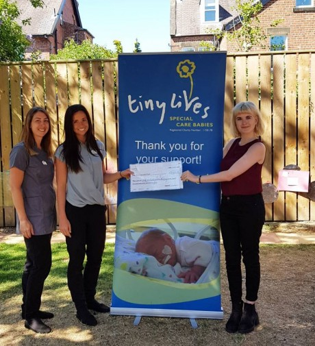 Cheque collection with Amy (July 2018)