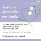 Service to remeber our babies - Advert (15x4)_