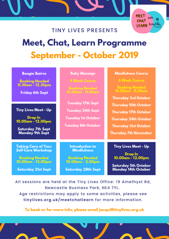Meet, Chat Learn Programme (Sept - October 2019)
