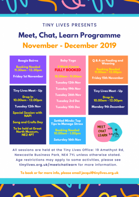 Meet, Chat Learn Programme Nov - Dec (2019)
