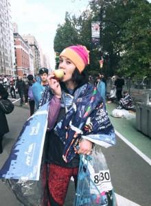 Mairi after finishing the NYC Marathon