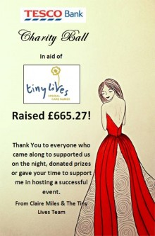 Amount raised on ball night