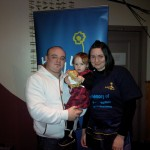 Stacie and Martin Richardson with Alyssa - fundraising night in loving memory of thier son Ethan