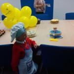 Isaac and cake