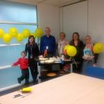 Isaac cakes and tesco bank team