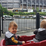 Jake and Kyle out side St James Park 2015