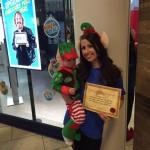 Fynn and Kayley Walklate - elf walk 2015