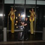 Stilt walkers and fire eater - outside 2