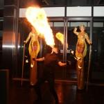 Stilt walkers and fire eater - outside 4
