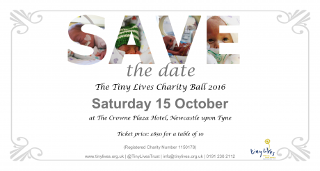 The Tiny Lives Charity Ball 2016 - Save the Date