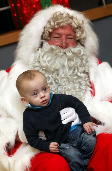 The 'Tiny Lives' Christmas reunion at St. James' Park...Little Kaiden Kerry 1 with Santa.......(pic Dave Charlton)