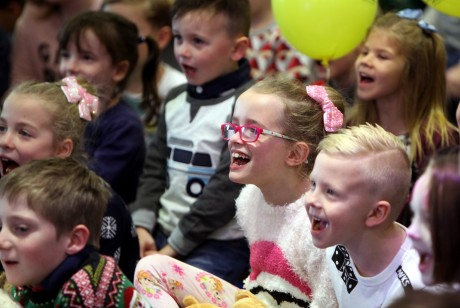 The 'Tiny Lives' Christmas reunion at St. James' Park...Children enjoy the Panto entertainment.......(pic Dave Charlton)