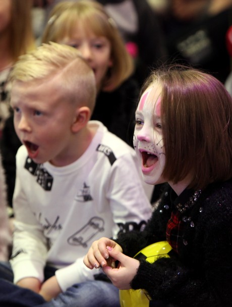 The 'Tiny Lives' Christmas reunion at St. James' Park...Children enjoy the Panto entertainment.........(pic Dave Charlton)
