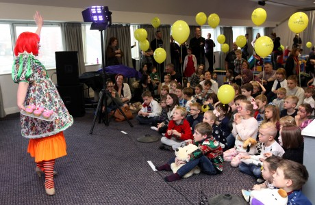 The 'Tiny Lives' Christmas reunion at St. James' Park....Children enjoy the Panto entertainment........(pic Dave Charlton)
