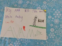 good luck poster for uncle Andy