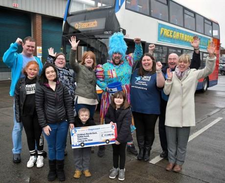 Stagecoach Santa donation Newcastle 1