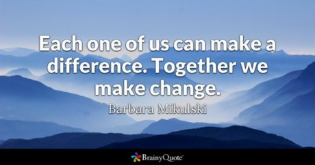 Make a difference - qoute
