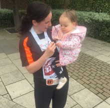 Neve and Emma Kelly at Sunderland 10K May 2018 - permission given for web story and social