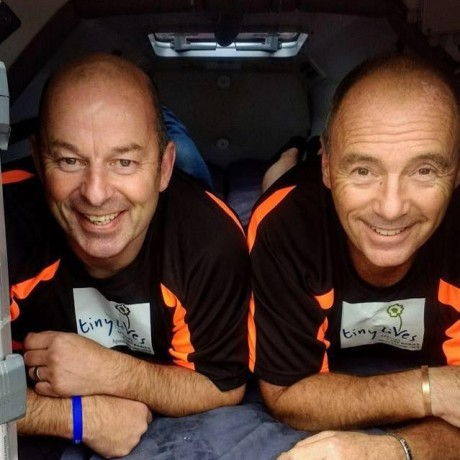 Paul and Phil (Atlantic Dream Challenge) in Tiny Lives Vests (2019)