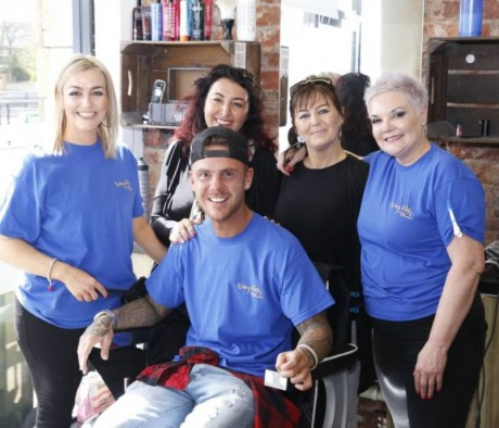 Tom Baxter and Team, 24hr barberthon (April 2018)