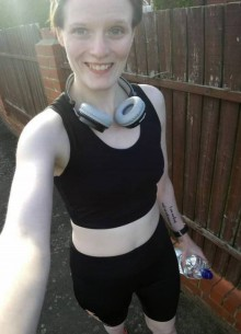 Jessica Cartner now, training hard for the Great North Run (GNR19, Tiny Lives Trust)