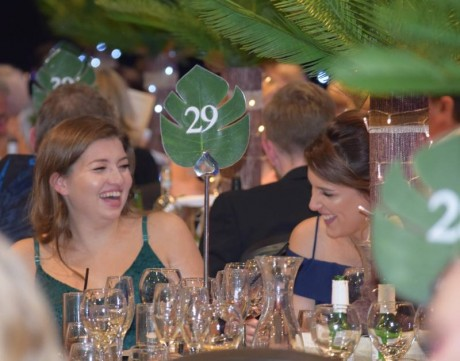 Guests enjoyed jungle-themed table decorations (2) (Tiny Lives Ball, Sept 2019)