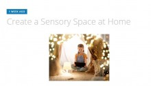 Sensory Space at Home